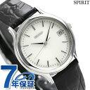 セイコー スピリット メンズ 腕時計 SBTC011 SEIKO SPIRIT ホワイト×ブラック レザーベルト