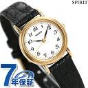 セイコー スピリット レディース 腕時計 SSDA030 SEIKO SPIRIT クオーツ ホワイト×ブラック レザーベルト