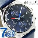 アニエスベー クロノグラフ クオーツ メンズ FCRT978 agnes b. 腕時計 ネイビー【あす楽対応】
