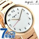 アニエスベー マルチェロ クオーツ レディース 腕時計 FCSK947 agnes b. ホワイト×ピンクゴールド