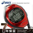アシックス ランニングウォッチ クロノグラフ AR07 CQAR0711 asics 腕時計 ファンランナー ブラック/レッド