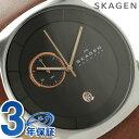 スカーゲン ヘブン クロノグラフ メンズ 腕時計 SKW6085 SKAGEN クオーツ グレー×ブラウン【あす楽対応】