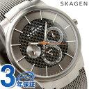 スカーゲン メンズ SKAGEN 腕時計 マルチファンクション チタン カーボンブラック×グレー 809XLTTM 時計【あす楽対応】