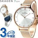 スカーゲン 時計 レディース 腕時計 SKAGEN アニタ メッシュベルト 革ベルト