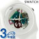 スウォッチ SWATCH 腕時計 スイス製 ニュージェント ホワイト ラッカード...