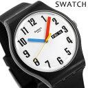【25日はさらに+4倍でポイント最大21.5倍】 スウォッチ SWATCH メンズ レディース 腕時計 ELEMENTARY 時計 SUOB728 エレメンタリー 41mm ホワイト×ブラック【あす楽対応】