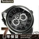 テンデンス フラッシュ LEDバックライト クオーツ 腕時計 TY561001 TENDENCE ブラック