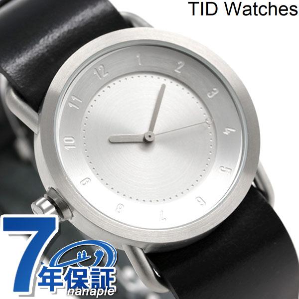 【ショッパー付き♪】TID watches 時計 No.1 レザーベルト 36mm TID01-36 SV/BK ティッド ウォッチズ [新品][7年保証][送料無料]