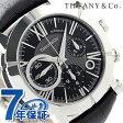 ティファニー アトラス ジェント クロノグラフ 42mm 自動巻き メンズ 腕時計 Z1000.82.12A10A71A TIFFANY&Co. ブラック アリゲーターレザー 新品