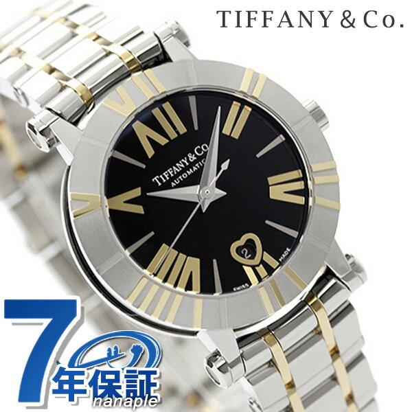 ティファニー アトラス 30mm 自動巻き K18YG レディース 腕時計 Z1300.68.16A10A00A TIFFANY&Co. ブラック×イエローゴールド メタルベルト 新品 [新品][7年保証][送料無料]【セイコー 腕時計 価格】