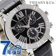 ティファニー アトラス クロノグラフ 36mm レディース 腕時計 Z1301.32.11A10A71A TIFFANY&Co. クオーツ ブラック アリゲーターレザー 新品