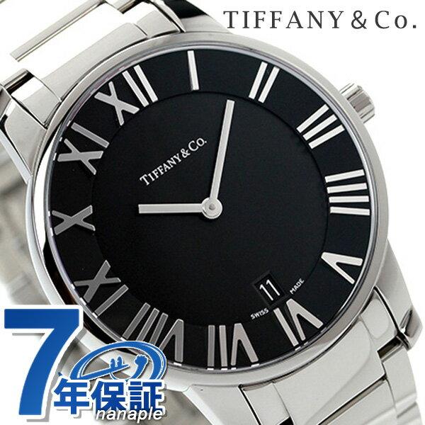 ティファニー アトラス ドーム メンズ 腕時計 Z1800.11.10A10A00A TIFFANY&Co. クオーツ ブラック メタルベルト 新品【あす楽対応】