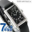ティファニー ギャラリー 19mm ダイヤモンド レディース 腕時計 Z3000.10.10E10C68A TIFFANY&Co. クオーツ ブラック カーフレザー 新品