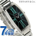 ティファニー ジェメア ラージ 22mm レディース 腕時計 Z6401.10.10A19A00A TIFFANY&Co. クオーツ ブラック メタルベルト