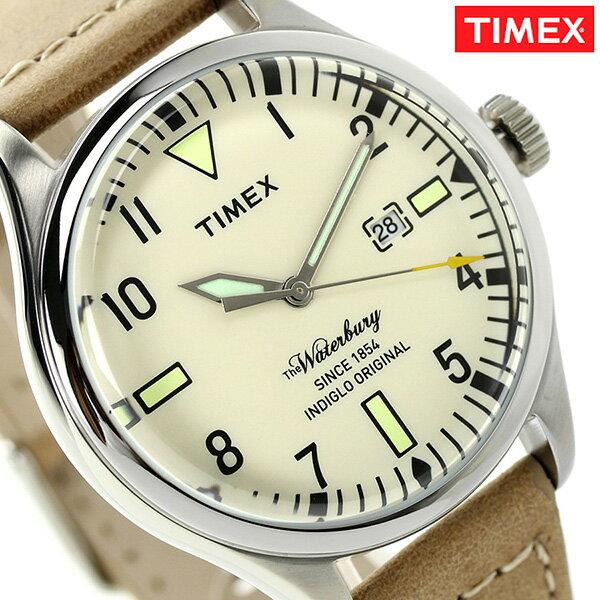 タイメックス ウォーターベリー メンズ 腕時計 TW2P83900 TIMEX クリーム×タン タイメックス TIMEX[新品][1年保証][送料無料]