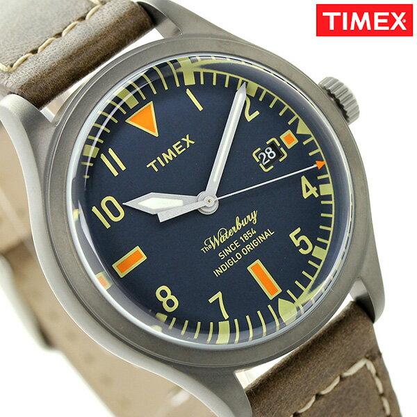 タイメックス ウォーターベリー メンズ 腕時計 TW2P84400 TIMEX ネイビー×ブラウン タイメックス TIMEX[新品][1年保証][送料無料]