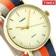タイメックス ウィークエンダー フェアフィールド 37mm TW2P91600 TIMEX 腕時計 ナチュラル×オレンジ