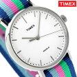 タイメックス ウィークエンダー フェアフィールド 37mm TW2P91700 TIMEX 腕時計 ホワイト×マルチカラー