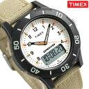 タイメックス 腕時計 メンズ カトマイコンボ 43mm アナデジ TW4B16800 TIMEX アイボリー×カーキ 時計【あす楽対応】