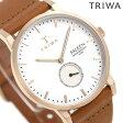 トリワ TRIWA ファルケン ローズ 38mm 腕時計 FAST101-CL010214 ホワイト×ブラウン【あす楽対応】