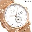 トリワ TRIWA ファルケン ローズ 38mm 腕時計 FAST101-CL010614 ホワイト×ベージュ【あす楽対応】