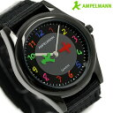 アンペルマン キッズ 子供用 腕時計 クオーツ AMA-2034-05 AMPELMANN オールブラック