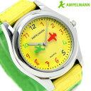 アンペルマン キッズ 子供用 腕時計 クオーツ AMA-2034-16 AMPELMANN イエロー×グリーン