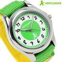 腕時計 キッズ 子供用 アンペルマン クオーツ AMA-2035-12 AMPELMANN ライトグリーン×イエロー 時計