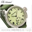 機械式腕時計 スモールセコンド 腕時計 手巻き ライム×グリーン ナイロンベルト B-Barrel BB0046-5