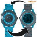 colore TWINS カラーツインズ リバーシブルウォッチ 腕時計 YS-65 CLASSIQUE グレー×ブルー