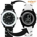 colore TWINS カラーツインズ リバーシブルウォッチ 腕時計 YS-66 CLASSIQUE ホワイト×ブラック