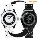 colore TWINS カラーツインズ リバーシブルウォッチ 腕時計 YS-72 CLASSIQUE ブラック×ホワイト