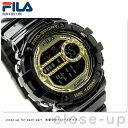 フィラクティブ クロノグラフ アラーム レディース 38-099-004 FILA 腕時計 ゴールド×ブラック