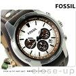 フォッシル コーチマン クロノグラフ メンズ 腕時計 CH2565 FOSSIL クオーツ シルバー×ダークブラウン レザーベルト【あす楽対応】