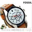 フォッシル コーチマン クロノグラフ メンズ 腕時計 CH2986 FOSSIL ホワイト×ブラウン【あす楽対応】