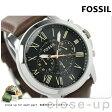フォッシル グラント クロノグラフ メンズ FS4813 クオーツ FOSSIL 腕時計 ブラック×ブラウン レザーベルト【あす楽対応】