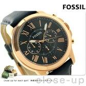 フォッシル グラント クロノグラフ FS4835 FOSSIL メンズ 腕時計 クオーツ ブルー×ブルー【あす楽対応】
