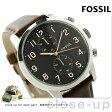 フォッシル タウンズマン 44MM クロノグラフ FS4873 FOSSIL メンズ 腕時計 クオーツ ブラック×ブラウン【あす楽対応】