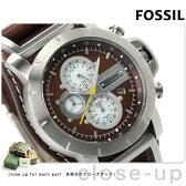 フォッシル トレンド クロノグラフ メンズ 腕時計 JR1157 FOSSIL クオーツ ブラウン レザーベルト【あす楽対応】