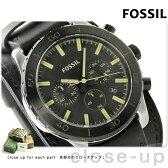 フォッシル キートン クロノグラフ メンズ 腕時計 JR1394 FOSSIL ブラック