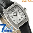 フォリフォリ 腕時計 レディース ジルコニア シルバー×ブラック レザーベルト Folli Follie S922ZI-SLV-BLK【あす楽対応】