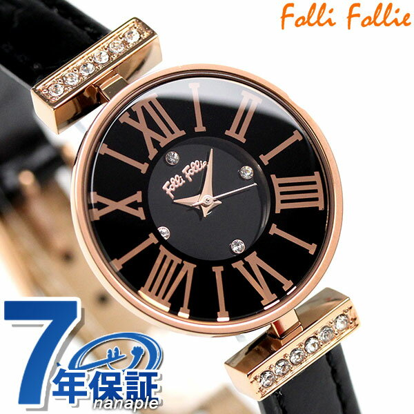 フォリフォリ ミニ ダイナスティ レディース 腕時計 WF13B014SSK-BK Folli Follie ブラック×ローズゴールド [新品][7年保証][送料無料]