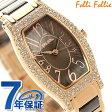 フォリフォリ デビュタント ウォッチ レディース 腕時計 WF2B027BPB Folli Follie クオーツ ブラウン×ピンクゴールド