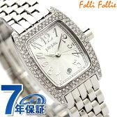 Folli Follie フォリフォリ 腕時計 レディース ジルコニア シルバー WF5T081BDS