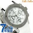フォリフォリ 腕時計 レディース クロノグラフ ホワイト ラバーベルト Folli Follie WT6T042SEW