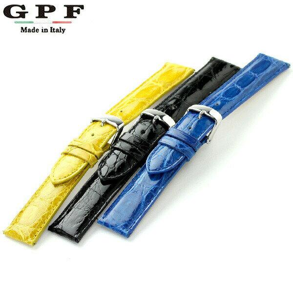 交換用ベルト 腕時計 クロコレザー 16-24mm GPF 選べるモデル