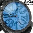 ガガミラノ 手巻き 48MM 限定モデル 5016.10S スイス製 マヌアーレ コーデュラ 腕時計 GaGa MILANO ライトブルー×ブラック【あす楽対応】
