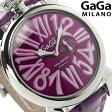 ガガミラノ クオーツ 5084.5 スリム 46MM ステンレス レザーベルト 腕時計 GaGa MILANO SLIM【あす楽対応】