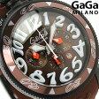 ガガミラノ クオーツ 48MM 6054.5 クロノグラフ ラバーベルト 腕時計 GaGa MILANO CHRONO PVD ブラウン【あす楽対応】