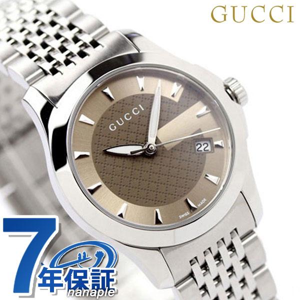 グッチ 時計 レディース Gタイムレス ブラウン GUCCI YA126503 [新品][7年保証][送料無料]